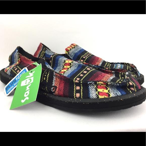e4610eb495 Sanuk vagabond funk men s shoes size 8 red blanket